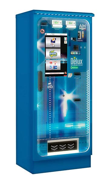 distributore automatico per sigarette, ricariche e gratta e vinci